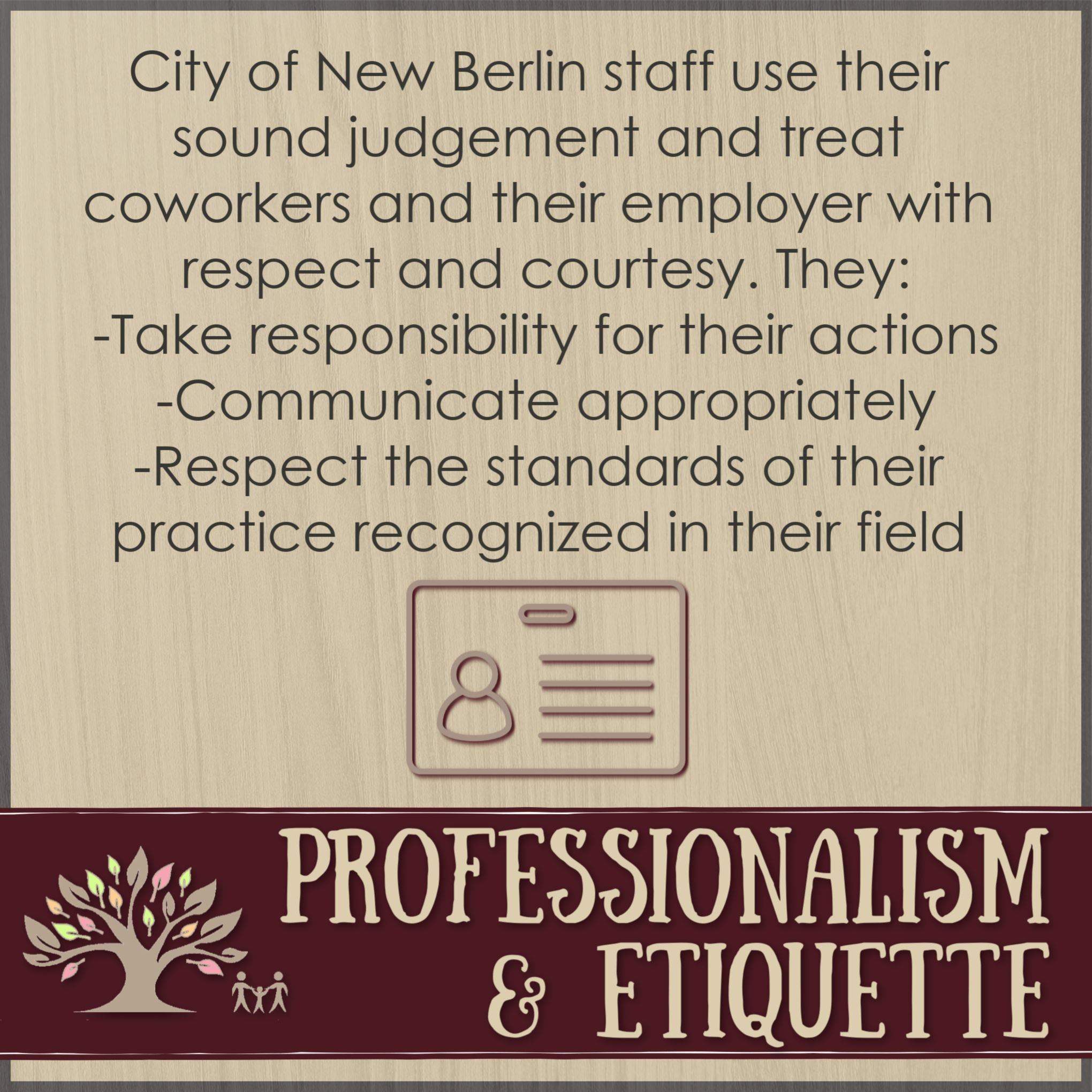 Core Competencies - Professionalism and Etiquette